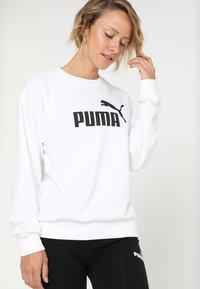 Puma - LOGO CREW - Sweatshirt - white - 0