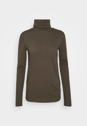 LONG SLEEVE TURTLE NECK - Long sleeved top - utility olive