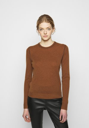 CREW NECK - Jumper - driftwood/brown