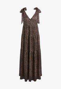 SET - Maxi dress - dark brown camel - 6