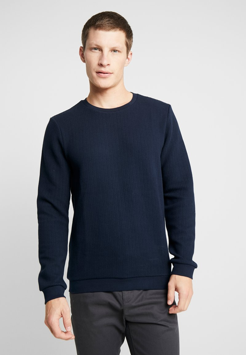 TOM TAILOR DENIM - STRUCTURE CREWNECK - Sweatshirt - sky captain blue