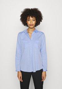 Opus - FALENTA DOBBY - Button-down blouse - blue mood - 0