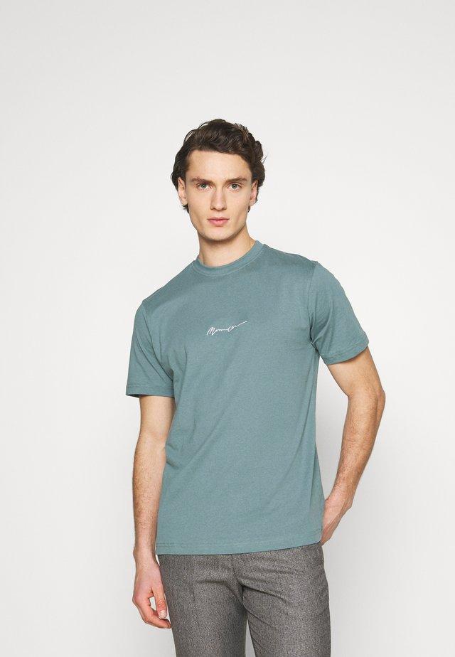 UNISEX ESSENTIAL SIGNATURE  - T-shirt imprimé - dark green