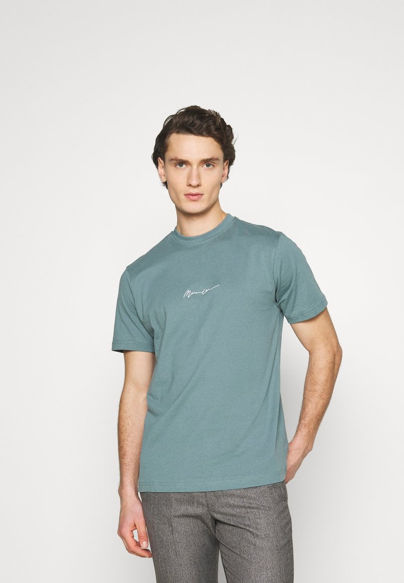 Mennace - UNISEX ESSENTIAL SIGNATURE  - Print T-shirt - dark green