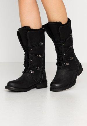 COOPER  - Winter boots - morat black