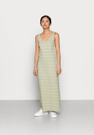 ONLMAY LIFE V-NECK DRESS  - Maxikjole - desert sage/cloud dancer
