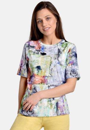 VISION - T-shirt med print - lilac/brown