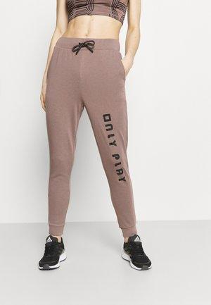 ONPJANAY 7/8 - Pantalones deportivos - deep taupe/black