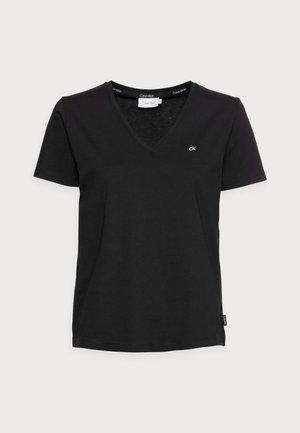 SMALL V NECK  - Basic T-shirt - black