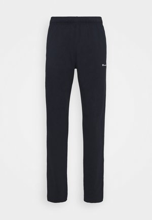 STRAIGHT HEM PANTS - Tracksuit bottoms - dark blue