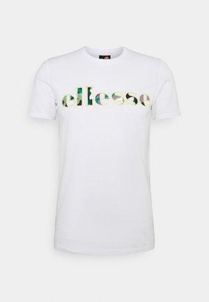 LANBRONE - Print T-shirt - white
