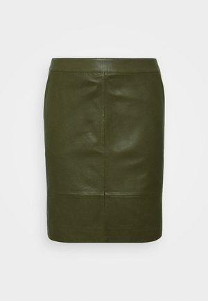 CHARGZ SKIRT - Pencil skirt - dark olive