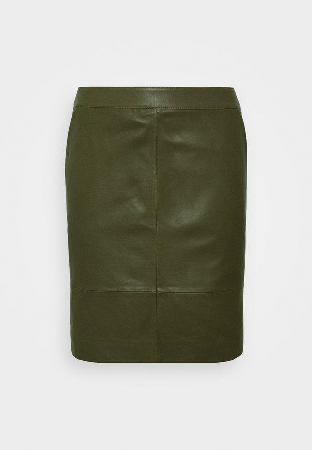 CHARGZ SKIRT - Blyantnederdel / pencil skirts - dark olive