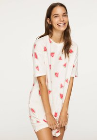OYSHO - WATERMELON NIGHTDRESS 30274786 - Nightie - white - 0