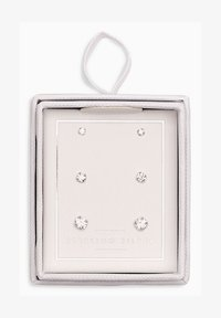 Next - STERLING SILVER CRYSTAL STUDS THREE PACK - Earrings - silver - 1
