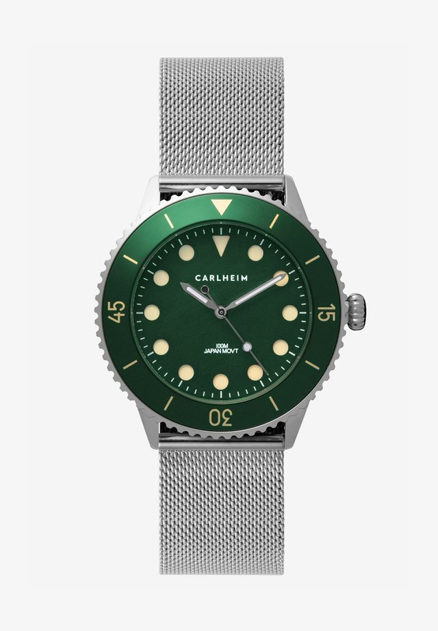 DIVER 40MM MESH - Montre - silver-green
