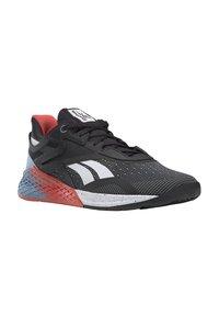 Reebok - NANO X - Chaussures d'entraînement et de fitness - black/white/vivid orange - 3