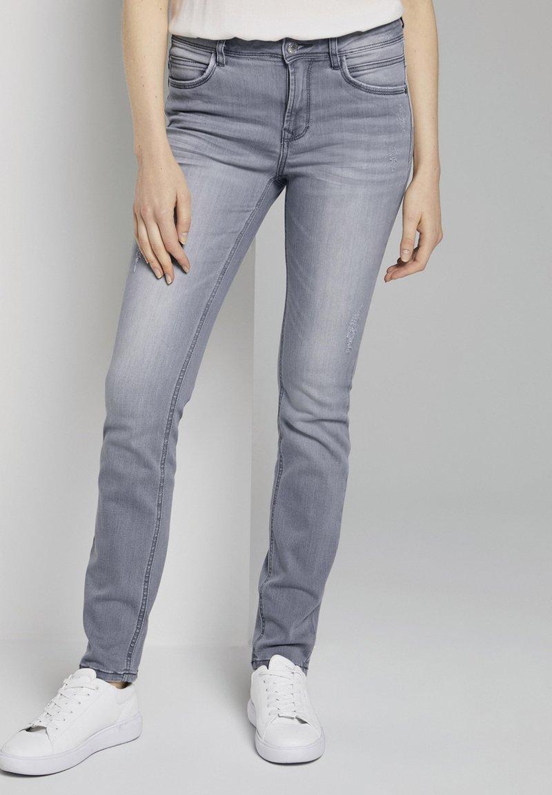 TOM TAILOR - Slim fit jeans - grey denim