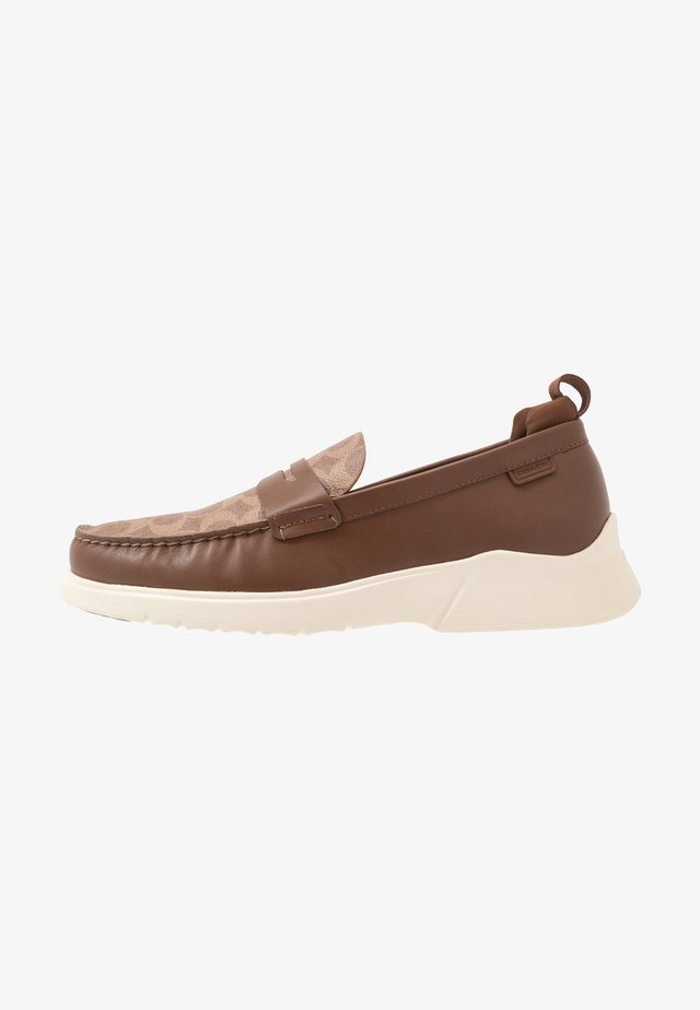 CITYSOLE SIGNATURE LOAFER - Slip-ons - khaki/saddle