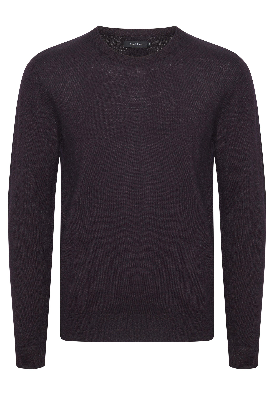 MALEON Stickad tröja claret melange