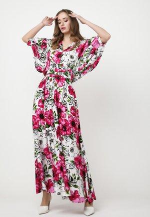 Maxi dress - weiß, rosa