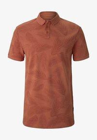 TOM TAILOR DENIM - Polo shirt - orange palm leaves print - 4