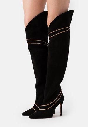 SILLA  - High heeled boots - nero/antik gold