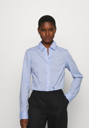 LANGARM - Button-down blouse - hellblau