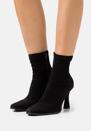 FEATURE SOCK BOOTS - Korte laarzen - black