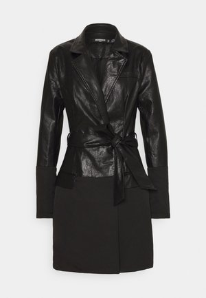 BELTED DRESS - Robe d'été - black