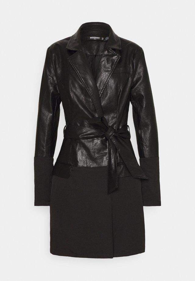 BELTED DRESS - Day dress - black