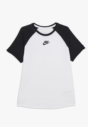 TEE HYBRID RAGLAN - T-shirt imprimé - white/black