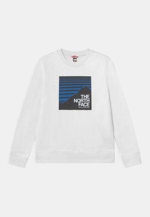 BOX CREW UNISEX - Sweatshirt - white/hero blue