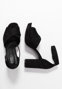 PARFOIS - Højhælede sandaletter / Højhælede sandaler - black - 3
