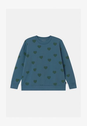 HEARTS UNISEX - Sweatshirt - sea blue/dark green