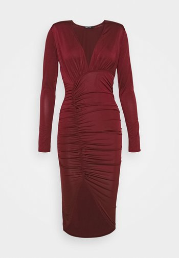 PLUNGE RUCHED DRESS