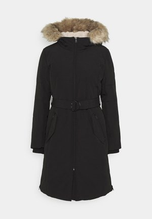 OXFORD COAT TAPE BELT - Down coat - black