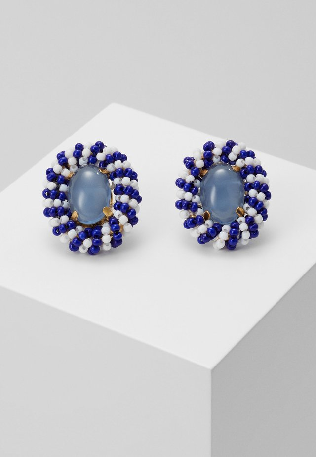 STRISCE BEADED STUD EARRINGS - Náušnice - navy
