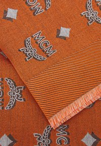 MCM - BI-COLOR JAQUARD MONOGRAM SCARF - Foulard - persimmon orange - 2