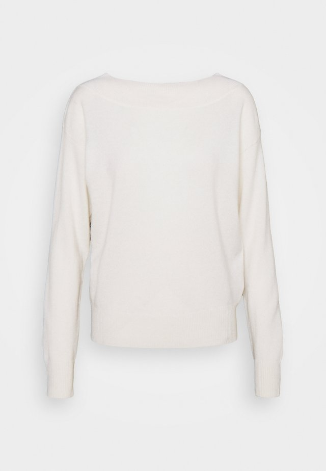 WIDE NECK  - Jumper - white