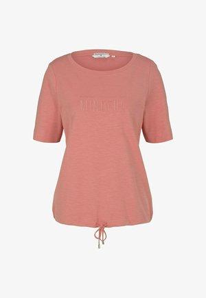 Print T-shirt - dusty pastel pink