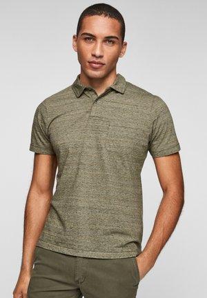 Polo shirt - olive melange