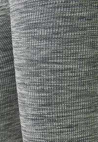 Zign - High waist ribbed seamless leggings - Leggings - Trousers - mottled dark grey - 2