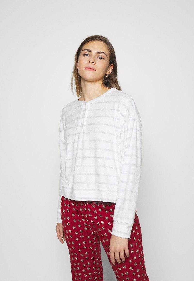 GAP - SUM TOWEL TERRY HENLEY - Pyjama top - heather varigated