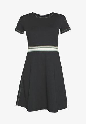 RAINBOW - Žerzejové šaty - black