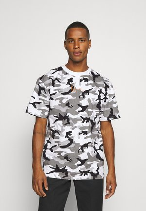 SMALL SIGNATURE CAMO TEE - Camiseta estampada - white