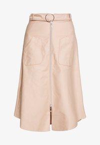 RONA - A-line skirt - nude denim