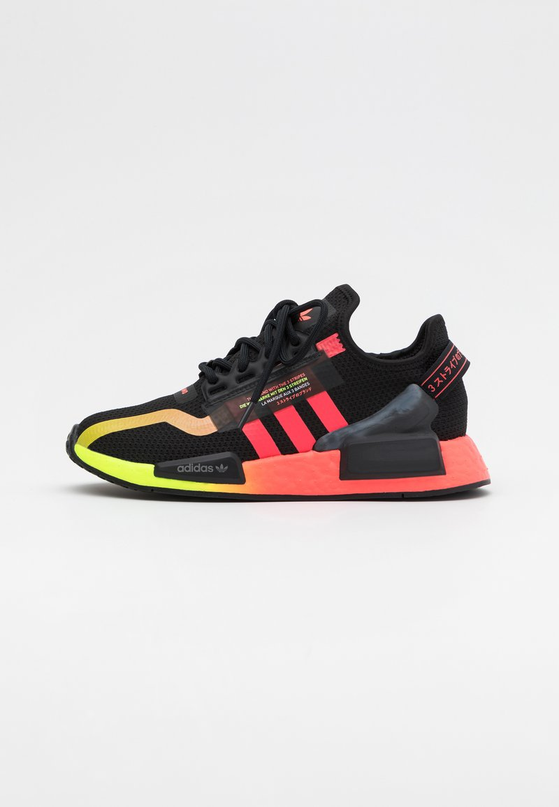 adidas Originals - NMD_R1.V2 BOOST UNISEX - Trainers - core black/signal pink/signal green