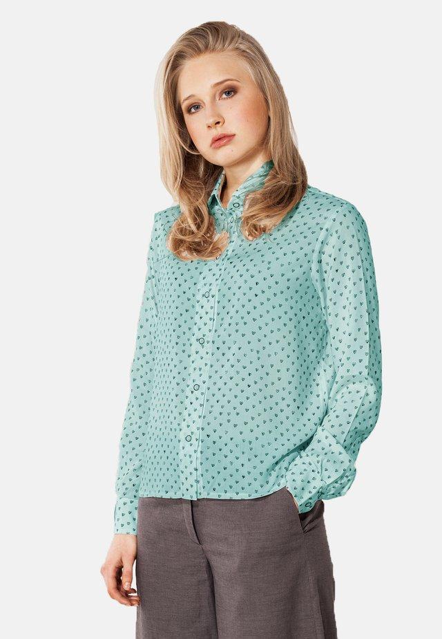 MIT PRINT  - Button-down blouse - türkis