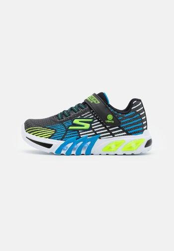 FLEX-GLOW ELITE - Sneaker low - black/blue/lime trim/white